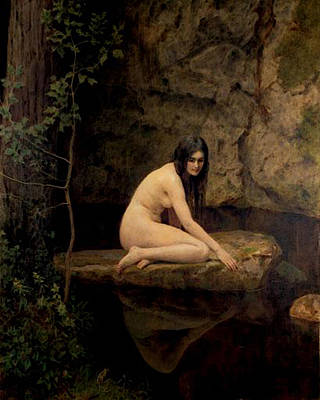 Collier Digital Art - Collier John The Water Nymph by John Collier