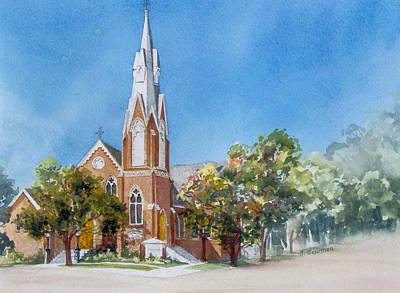 Collingwood-church Art Print by Nancy Newman