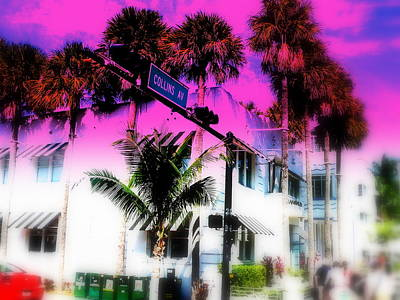 Collins Av South Beach Miami Art Print by Funkpix Photo Hunter
