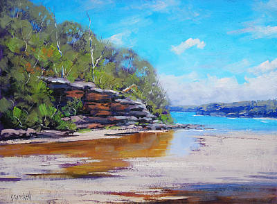 Beach Oil Painting - Collins Beach Manly by Graham Gercken