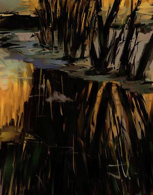 Digital Art - Collins Creek Sunset by Jim Vance