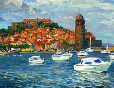 Painting - Collioure  Marina by Vladimir Kozma
