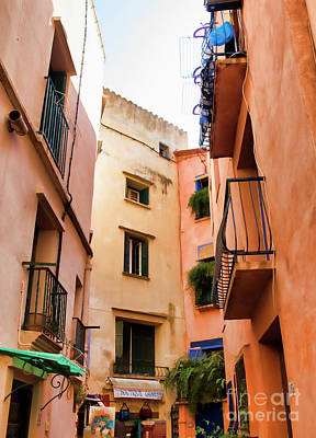 Photograph - Collioure Street Architecture  by Chuck Kuhn