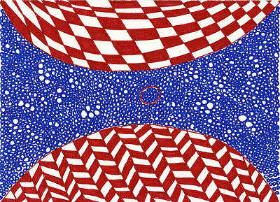 Repetition Drawing - Collision No. 1 by Timothy Forry