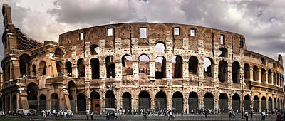Photograph - Colloseum Rome Italy by Alex Saunders