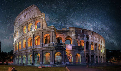 Colloseum Under The Stars Art Print by Brent Shavnore