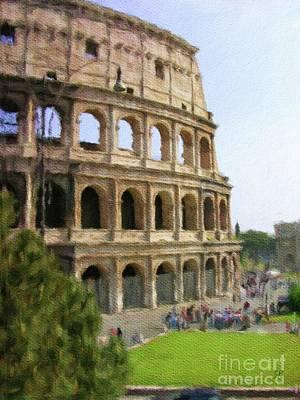 Painting - Collosseum, Rome by Sarah Kirk