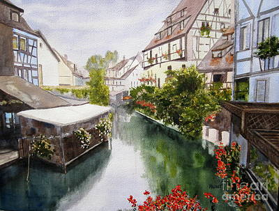 Painting - Colmar Canal by Shirley Braithwaite Hunt