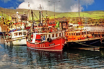 Photograph - Coloful Irish Harbor by Debra and Dave Vanderlaan
