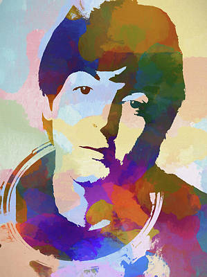 Painting - Coloful Mccartney by Dan Sproul