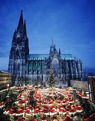 Photograph - Cologne Cathedral And Christmas Market by Axiom Photographic