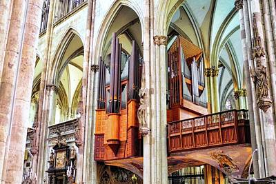 Photograph - Cologne Cathedral Pipe Organ by Kirsten Giving