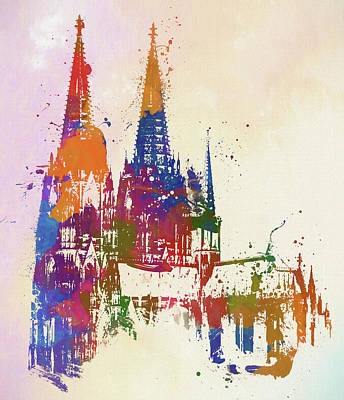 Painting - Cologne Cathedral Watercolor by Dan Sproul