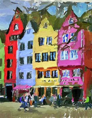 Digital Art - Cologne Color Street 3 by Yury Malkov