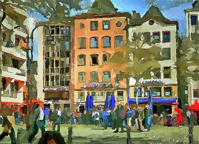 Digital Art - Cologne Color Street 4 by Yury Malkov