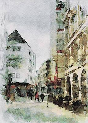 Digital Art - Cologne Watercolors 2 by Yury Malkov