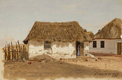Colombia Barranquilla Two Houses  Art Print by Frederic Edwin Church