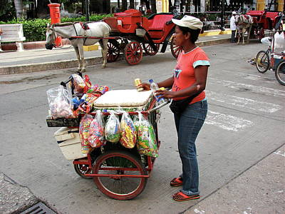 Photograph - Colombia Srteet Cart by Brett Winn