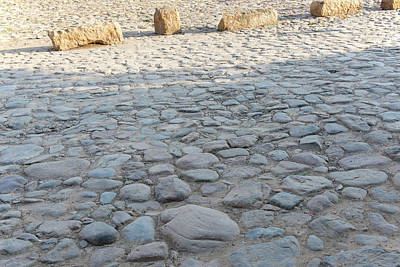 Digital Art - Colombia Villa De Leyva Cobblestones In The Plaza Mayor by Carol Ailles