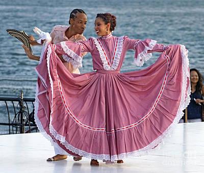 Folk Park Digital Art - Colombian Dancers 2 by Jerry Fornarotto