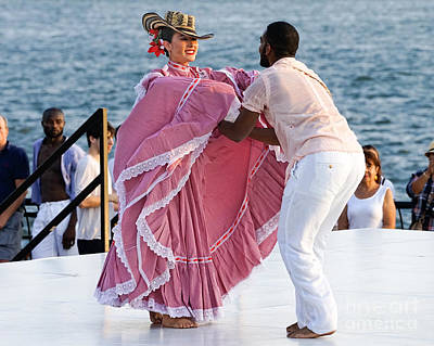 Folk Park Digital Art - Colombian Dancers 3 by Jerry Fornarotto