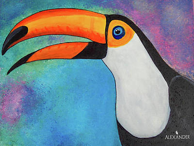 Colorado Fires Painting - Colombian Toucan by Alexander Mosquera