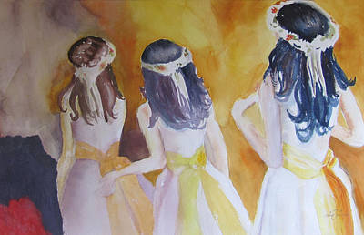 Colombian Wedding Party Two Art Print