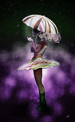 Cabaret Digital Art - Colombina Treacherous by Joaquin Abella
