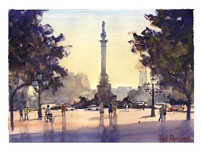 Colon Las Ramblas Barcelona Art Print