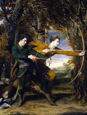 Painting - Colonel Acland And Lord Sydney The Archers by Joshua Reynolds