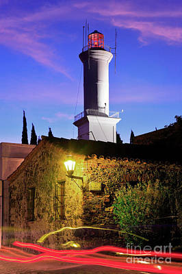 Art Print featuring the photograph Colonia Lighthouse by Bernardo Galmarini