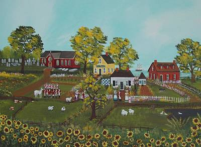 Painting - Colonial America by Virginia Coyle