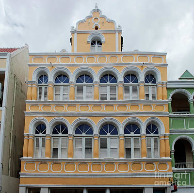 Old City Photograph - Colonial Architecture In Willemstad, Curacao, Netherlands Antilles by Dani Prints and Images