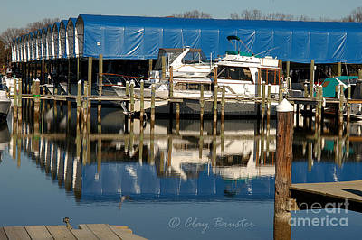 Photograph - Colonial Beach Marina by Clayton Bruster