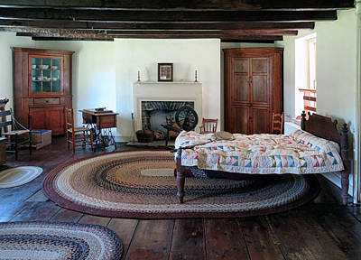 Photograph - Colonial Bedroom by Dave Mills