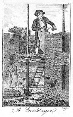 Colonial Man Photograph - Colonial Bricklayer by Granger