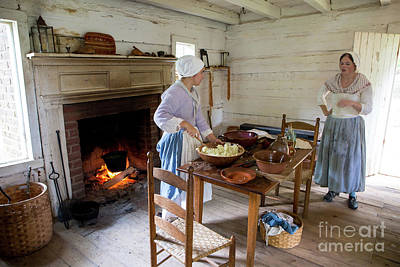 Photograph - Colonial Cooking Demonstration by Kevin McCarthy