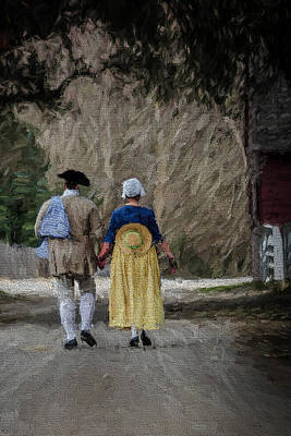 Photograph - Colonial Couple 2 by Jerry Gammon
