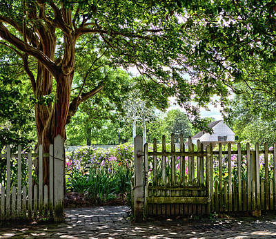 Photograph - Colonial Gardens 3 by Charles Warren