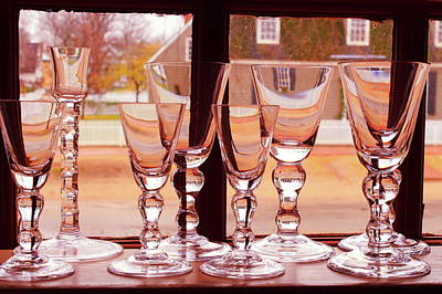 Photograph - Colonial Glassware by Lou Ford