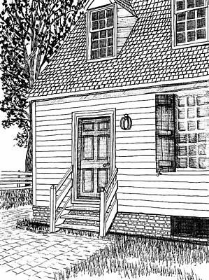 Colonial Home, Restored Area, Williamsburg, Virginia Revolutionary City Art Print