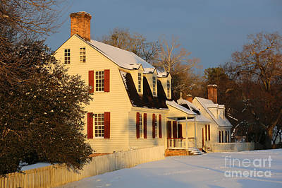 Photograph - Colonial Homes On A Winter Evening by Lara Morrison