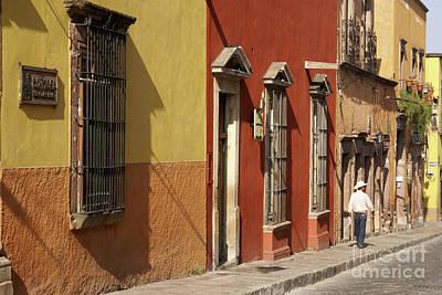 Photograph - Colonial House Facades San Miguel De Allende Mexico by John  Mitchell