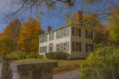 Colonial House On Main Street, Easton Art Print