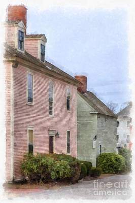 House Digital Art - Colonial Houses Of Portsmouth New Hampshire by Edward Fielding