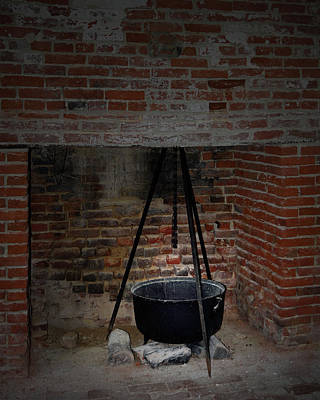 Photograph - Colonial Kitchen by Karen Harrison