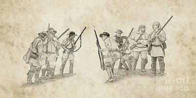 Digital Art - Colonial Militia Ambush At Bushy Run  by Randy Steele
