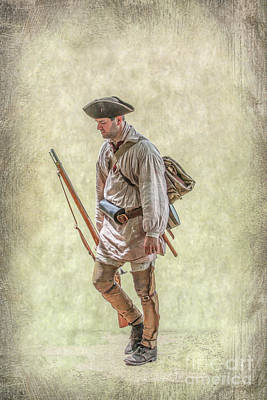 Digital Art - Colonial Militia Fort Pitt Bound by Randy Steele