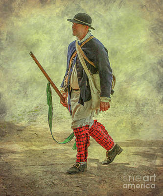 Tea Party Digital Art - Colonial Militia Scout One by Randy Steele