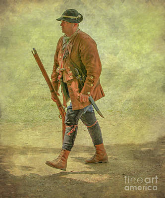 Tea Party Digital Art - Colonial Militia Scout Two by Randy Steele